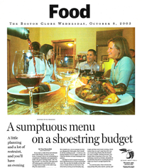 Boston Globe Shoestring Budget